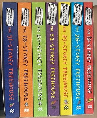 Andy Griffiths 13-Storey Treehouse Series Collection 7 Books Set Gift Pack