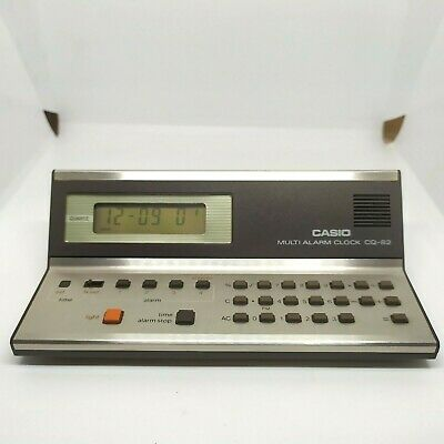 🧮 RARE 1980 Vintage Calculator CASIO Multi Alarm Clock CQ-82, Fully Working