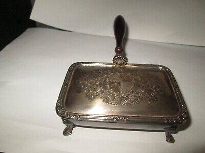 Vintage Silver Plated Cigarette Holder / Ashtray (Wigfull Plymouth)