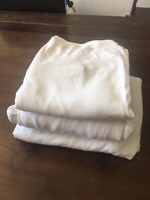 3 X Mamas And Papas Cotbed Fitted Sheets Soft Stretchy 100% Cotton