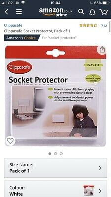 Clippasafe Double Socket Protector Electric Plug Cover Baby Proof Child Safety