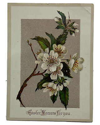 Lot of 3 Victorian Easter Cards Various Flower Lithographs T112