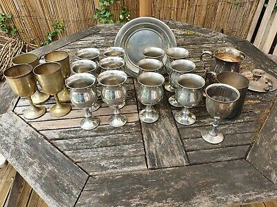 Job Lot Of Vintage Pewter and Silver Plated (approx) 3.6kg Scrap Or Collectable