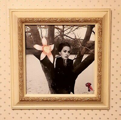 Original Collage Street Art (Framed) 'Adele and Orchid' by Joyce & Vicky