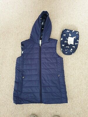 Marks Spencer M&S Girls Gilet Bodywarmer In Bag Horse Pony Print Blue 13 - 14