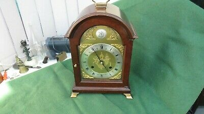 Chiming Mantle Clockwork Clock By Comitti Of London Working With Key
