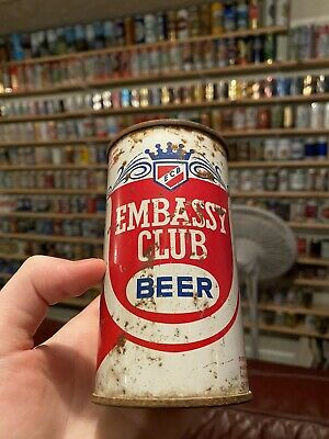 USBC 59-34 Embassy Club Beer Extra Dry Steel Flat Top Beer Can
