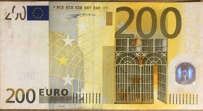 2002 200 Euro / European Union Banknote Legal Tender ** Fast Shipping **