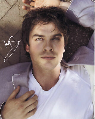 "IAN SOMERHALDER DAMON THE VAMPIRE DIARIES Signed Autograph PRINT 6x4"" GIFT"