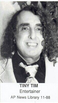 1988 Vintage Photo Entertainer and Singer Tiny Tim poses