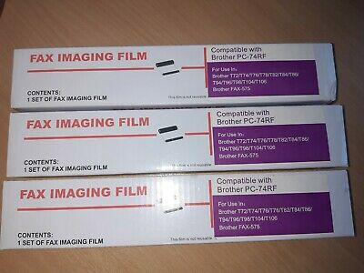 Fax Imaging Film For Brother PC-74R x 3