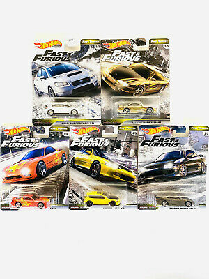 2020 Hot Wheels Fast and Furious Fast Tuners Set of 5 Cars 1/64 Premium Diecast