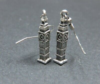 Big Ben Earrings London Jewelry UK Landmark Clock Tower England BigBen Charms