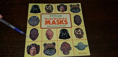 Vintage 1983 ROTJ •The Star Wars Book of Masks • New/Unused • Collectible