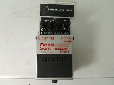 BOSS SYB-5 Bass Synthesizer Effects Pedal/Processor Synth  Free USA Shipping