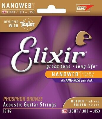 Elixir Nanoweb Acoustic Phosphor Bronze, HD Light 13-53