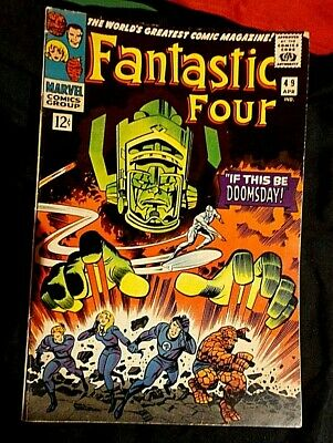 Fantastic Four # 49 1St App Galactus 2Nd Silver Surfer Ff Marvel Mcu 1966 Key Vf