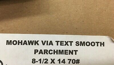 Mohawk Via Text Smooth Parchment - 8.5 x 14 70# - 50 Sheets