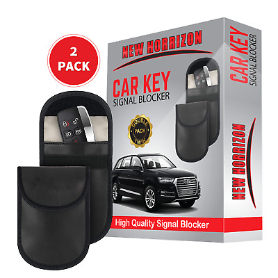2x Lock Car Key Signal Blocker Keyless Entry Anti-Theft Fob Pouch Wallet Bag