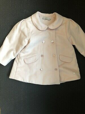 100 % Authentic DIOR Pink 100% Wool Girl Pea Coat 2 - 3 Years Price  £ 850