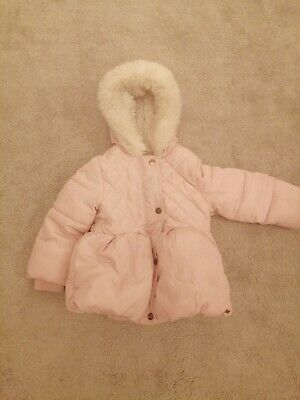 Mothercare Girls Coat Age 18-24 Months Pink