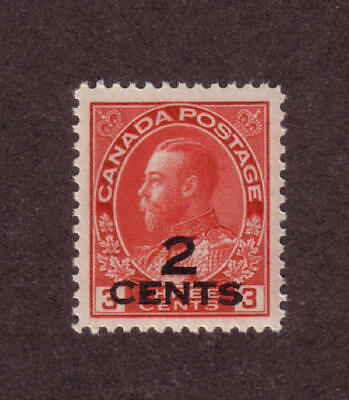 Canada - SC#140 Mint NH 2 on 3 cent KGV Provisional issue