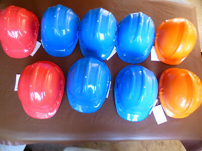 9 x new and unused safety hard hats.
