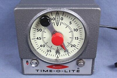 Master Time-O-Lite 60 Second Timer M-72 Industrial Photo Darkroom Enlarger Works