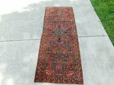 """Nice Vintage Antique Oriental Hand Knotted Persian Rug 77 1/2"""" by 29 1/2"""""""