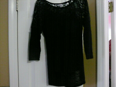 CANDIE'S Junior Girls Black Lace Top Size Small