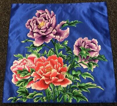 18x18'' Embroidery Decorative Pillow Case Cushion Cover Zip Closure Embroidered