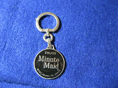 Vintage advertising enameled Minute Maid by Coca Cola Key Chain Key Ring