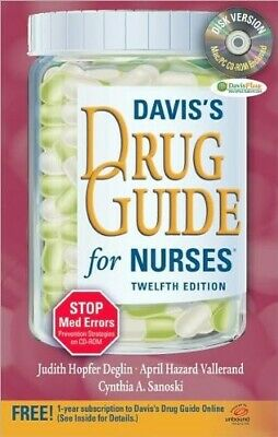 Davis's Drug Guide for Nurses by Deglin, Vallerand & Sanoski (12th Edition)