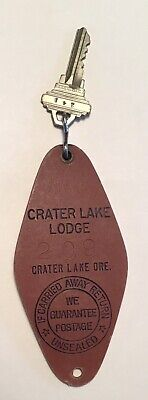 Rare HTF Vintage Hotel Key Tag Fob Crater Lake National Park Lodge Ex Cond!