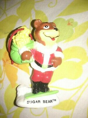 Vintage 1993 Sugar Bear Sugar Smacks Post Cereal Figure Christmas Ornament