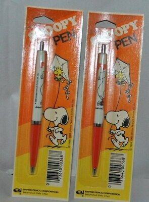 2 Vintage Snoopy Ball Point Pens Noc