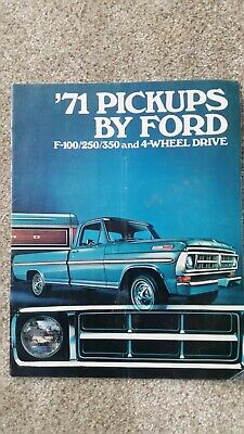 Ford Advertising booklet and '71 F150 brochure
