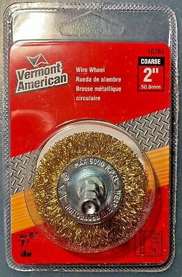 """Brass Wire Brush wheel 2"""" 1/4″ shank fits all drills, pack of 2"""