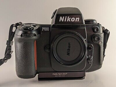 Nikon F100 AF 35mm Film Camera w/ MF-29 Data Back + RRS Quick Release Plate