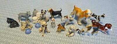 Lot 15 Vintage Dogs 11 Ceramic 1 Metal 1 Plastic 2  Composit