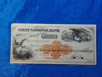 Bank Check, Awesome obsolete note from 1874 Beautiful detailed  vignettes SWEET!