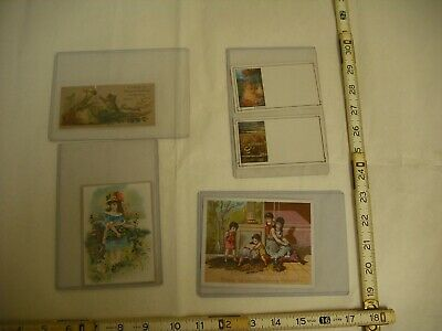 Antique Lithograph Victorian Trade Cards - Lot of 5 Small