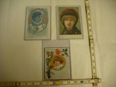 Lion Coffee Antique Lithographed Victorian Trade Cards - Lot of 3