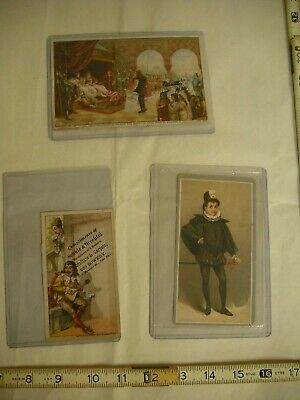 Antique Lithographed Victorian Trade Cards - Lot of 3
