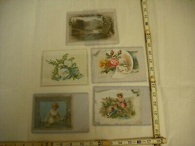 Lion Coffee Antique Lithographed Victorian Trade Cards - Lot of 5