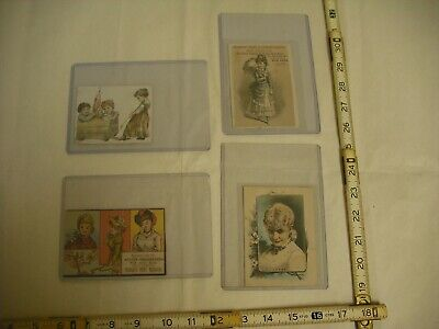 Antique Lithographed Victorian Trade Cards - Lot of 4, 1890's
