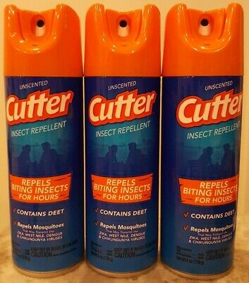NEW Cutter Insect Repellent, Unscented 6 oz (Pack of 3) Like OFF! Mosquito Spray