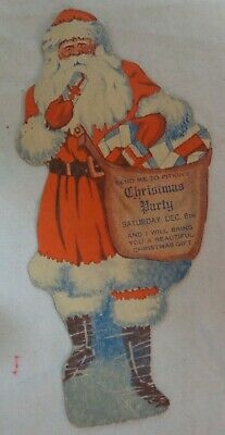 Early 1900's Pitkin's Christmas Party Santa Claus Coupon Trade card