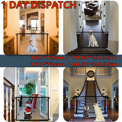 Retractable Pet Dog Gate Safety Guard Folding Baby Stair Gate Isolation