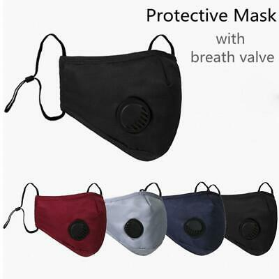 Washable Reusable Cotton Fabric Face Mask With Breathable Respirator / Filter